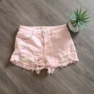 AE pink high rise shortie